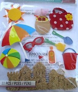 JOLEE-039-S-BOUTIQUE-FUN-AT-THE-BEACH-Summer-Scrapbook-Craft-Sticker-Embellishment
