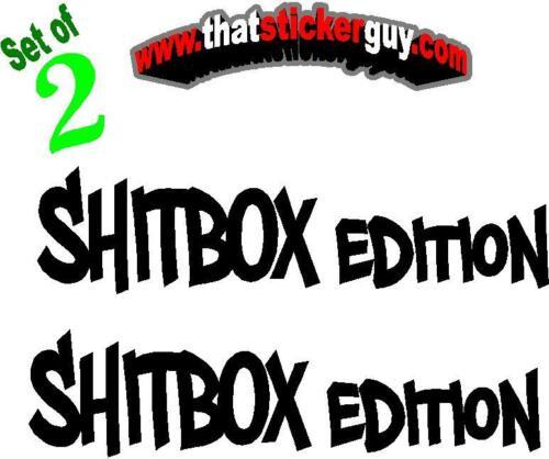 2 SHITBOX EDITION jeep stickers cherokee xj zj wj grand 0001