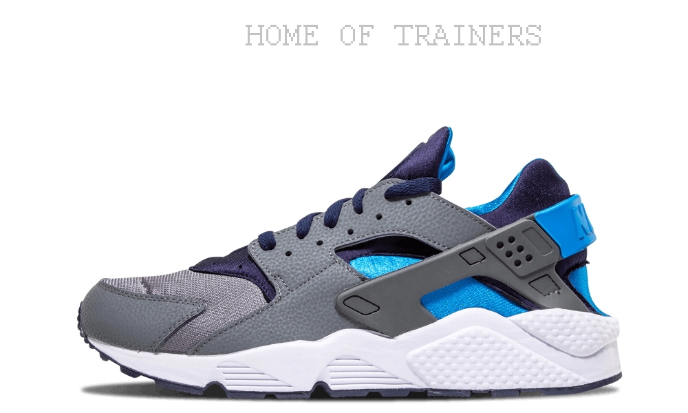 Nike Air Huarache Cool Grey Midnight Navy Men's Trainers All Sizes (PTI)