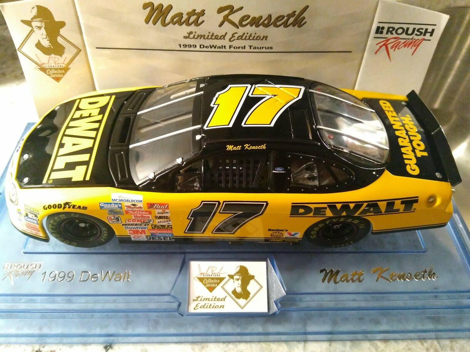 Matt Kenseth 1999 DeWalt Jack Roush Collector Series 1 24 Diecast. RARE