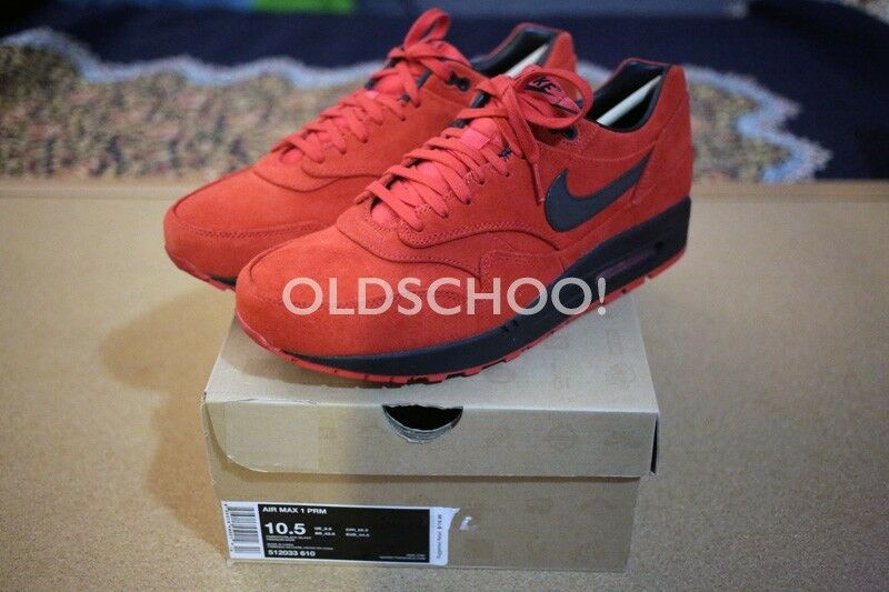 DS 2012 Nike Air Max 1 Pimento Black-Black sz 10.5 vintage wotherspoon