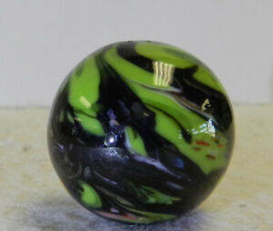 #12975m Nice Handmade Contemporary Keith Baker Marble With Lutz .98 Inches Mint