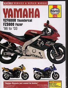 yamaha yzf600r thundercat fzs600 fazer 1996 03 service repair rh ebay com au yzf 600 r workshop manual 2002 yamaha yzf600r repair manual