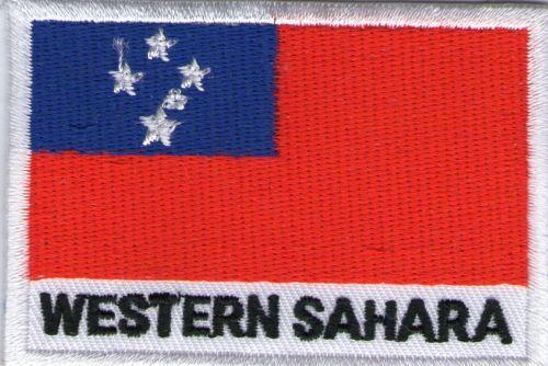 écusson ECUSSON BRODE PATCHE DRAPEAU SAHARA OCCIDENTAL DIMENSIONS 7 X 5 CM