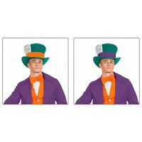 Mad Hatter Top Hat Fancy Dress Costume Accessory Adult Halloween