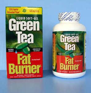 Green Tea Fat Burner 400 mg Applied Nutrition Liquid Soft Gels 200 ea With EGCG