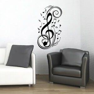 CLEF-MUSIC-NOTE-WALL-DECAL-STICKER-ART-STUDIO-DECOR-HOME-MURAL