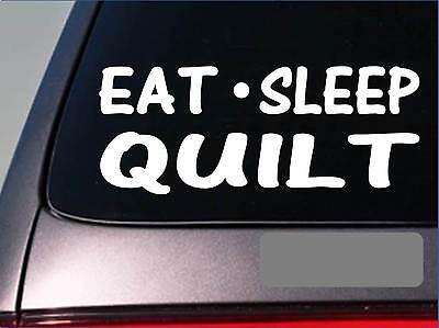 Id Rather Be Quilting Decal Car Truck Sewing Vinyl Window Decal Sticker Quilting