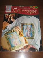 1995 Tulip Soft Images Iron-on Transfer Tct13 Heraldic Angel