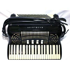 "Rare EXCELSIOR 0.0 ""Double Zero"" Professional Concert Accordion 1950s Ser. #9526"