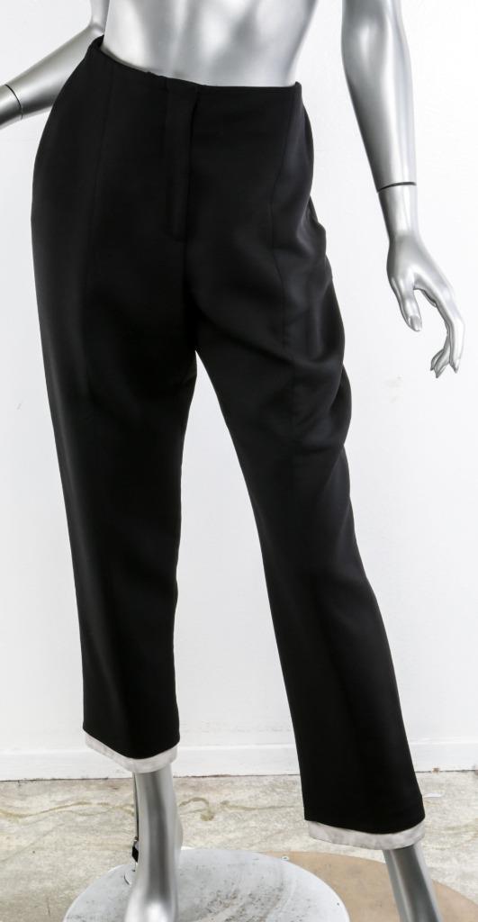 Alexander Mcqueen Damen Schwarz Wolle Seide Hoch Layer-Cuff Anzughose 8 44 | Bekannt für seine gute Qualität  | Online einkaufen  | Neuartiges Design