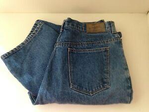 CABELA-039-S-Blue-Denim-Jeans-Pants-Warm-Flannel-Lined-Womens-Size-14-REG