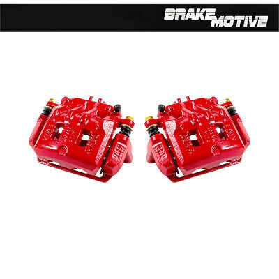 Front And Rear Red Performance Brake Calipers Pair For FORESTER IMPREZA WRX