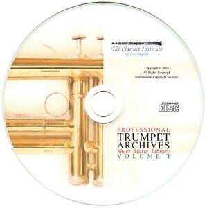 Details zu Professional TRUMPET Sheet Music Archive - Volume 1 - PDF CD
