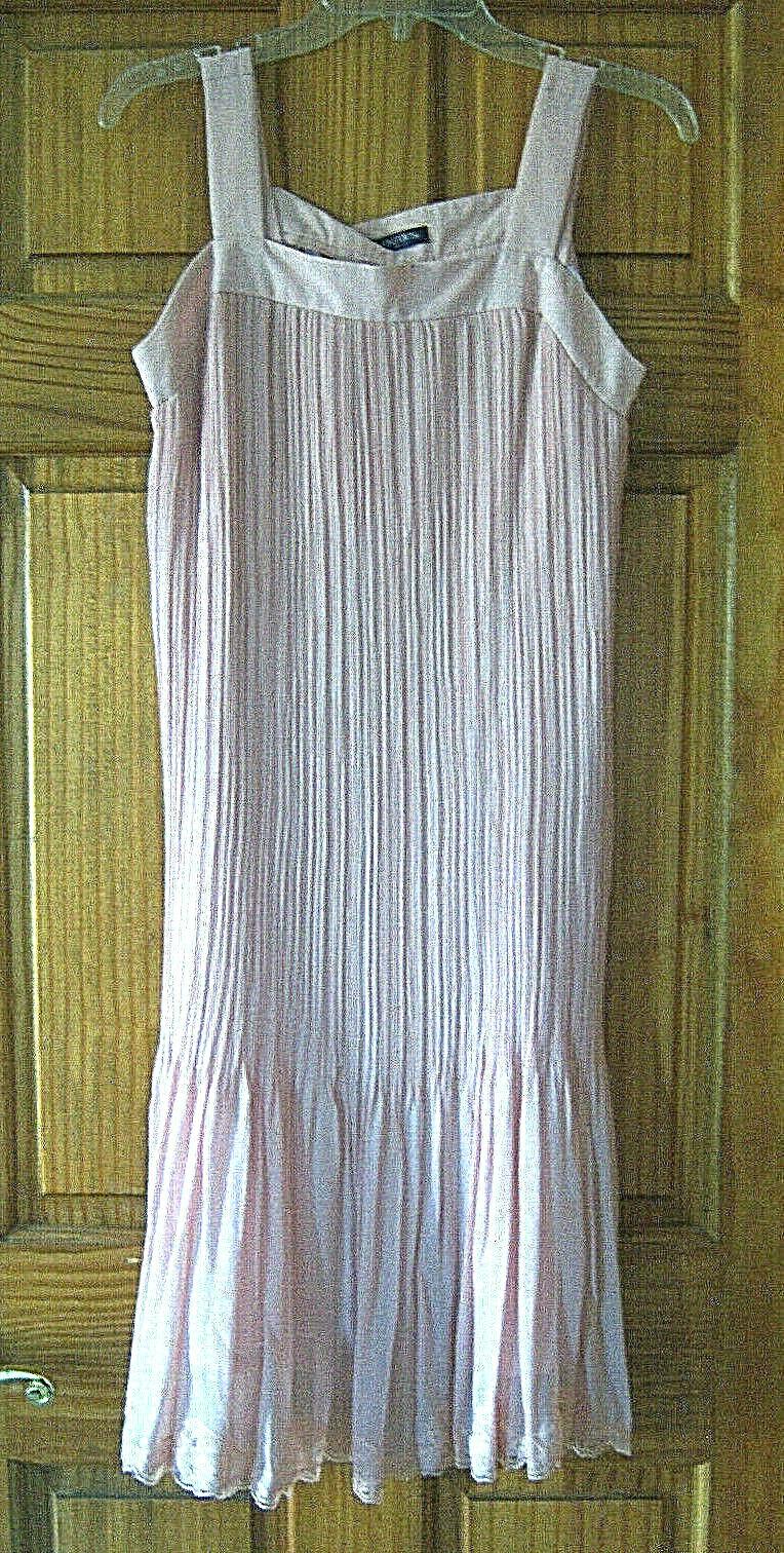 Women's fancy chiffon dress size L dusty rose pink - image 1