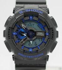 New Casio G-Shock GA110CB-1A Blue Dial Black Matte Resin Strap Men's Watch