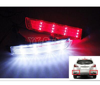 Clear Lens 24 LED FOR TSX Insight Bumper Reflector Backup Tail Stop Brake Light