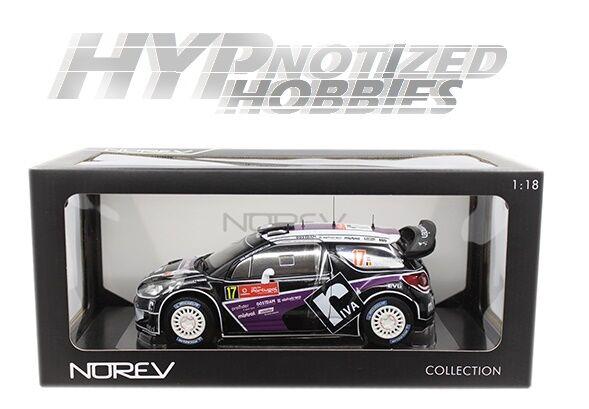Norev 1 18 citroen ds3 WRC Rally du vocal Merks Chev colado b p 181559