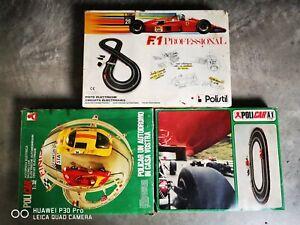 Lotto-3-AUTOPISTE-POLISTIL-POLICAR-1-32-NINCO-SCALEXTRIC-CARRERA-SLOT-CAR-TRACKS