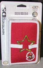 Nintendo DS Lite Buckle Folio Case Mario Red New