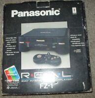 Panasonic 3DO FZ-1 R.E.A.L. Black Console Complete in Box #3D2