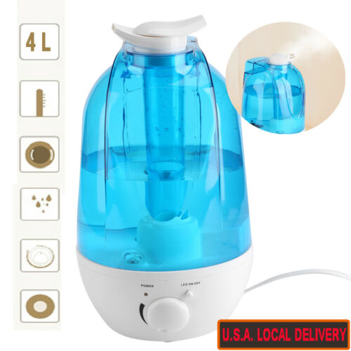3L//4L Ultrasonic Humidifier Diffuser Home Mist Maker Air Purifier With LED light