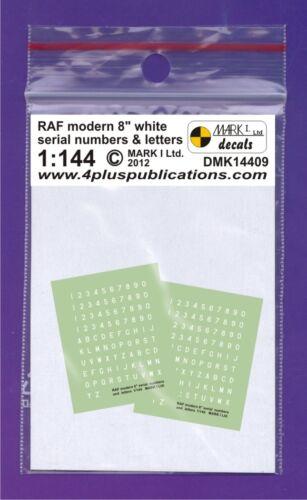 2 Set Mark i Decalcomanie 1//144 Raf Modern 20.3cm Seriale Numeri /& Lettere