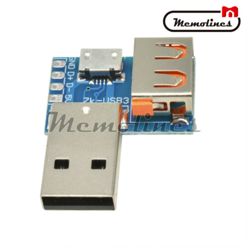 USB Converter Standard USB Male to Micro USB Female 4P Terminal Adapter 2.54mm