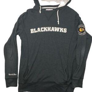 Mitchell & Ness Men's Large Black Chicago Blackhawks Long Sleeve Hoodie