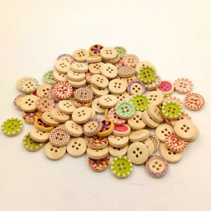 NE-HD-ALS-Mixture-Colorful-Wood-4-Holes-Circle-Buttons-for-Sewing-Scrapbookin