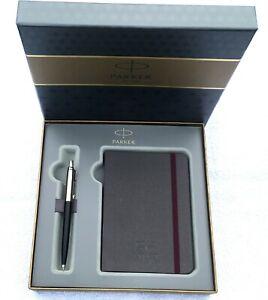 PARKER-Geschenk-Set-Kugelschreiber-Notizblock-im-Etui-mit-Persoenlicher-Gravur