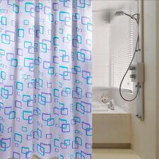 Shower Curtain Bathroom Waterproof Polyester Fabric Random Pattern /& Hooks SP