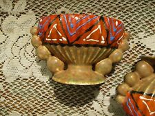 Vintage Pair of Art Deco Czechosloavokia DITMAR URBACH Pottery Candle Holders