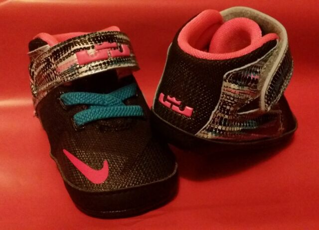 sale retailer 6f135 7b46d NEW LEBRON JAMES XII BABY INFANT GIRL'S HIGH CREW SHOES SZ 3C NEW IN BOX