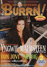 Burrn! Heavy Metal Magazine February 2011 Japan Yngwie Malmsteen Mr. Big