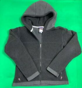 Patagonia-Synchilla-Fleece-Full-Zip-Hooded-Sweater-Jacket-Women-039-s-SZ-M-Black