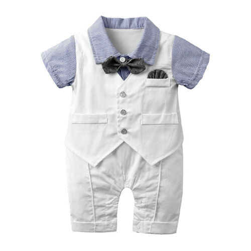 Sommer Baby Gentleman Baby Junge Outfits Kleidung Strampler Top Overall Kleidung