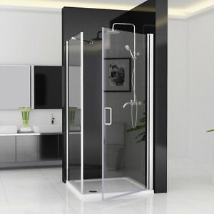 Details About Shower Enclosure Frameless 180 Pivot Door With Side Panel 6mm Nano Gl