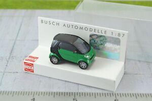 Busch 48900-4-2 H0 PKW Smart Fortwo City Coupé schwarz