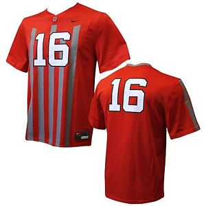 a2455a9d9 Ohio State Buckeyes  16 Blackout Youth Replica Football Jersey Youth ...