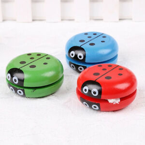 Wooden Colorful Ladybug Insect Yo-yo Ball Spin Classic Toys For Kids Children Toys & Hobbies Yoyos