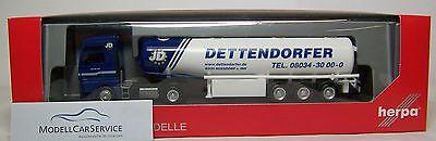 "h0 307208 Man Tgx Xxl C Fuel Tank-tractor "" Dettendorfer "" Excellent Quality Trustful Herpa"