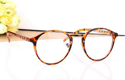 Fashion Retro Cute Designer Classic Round glasses Nerd Geek Clear Lens Eyeglass