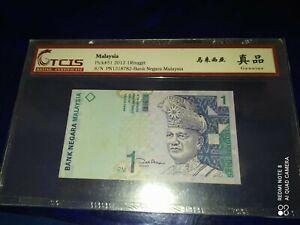 2012 MALAYSIA 1 RINGGIT Banknote (天印评级TCIS-GENUINE)