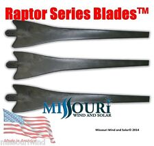 3 BLACK Raptor Generation 4 wind turbine generator blades made in the USA