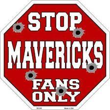 NBA Basketball Dallas Mavericks Metal Stop Sign Man Cave Garage Barn BS248