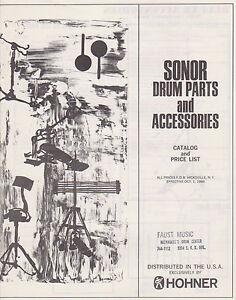 1968 OCT SONOR amp; ACCESSORIES LIST 0110 HOHNER PRICE CATALOG DRUM MISC 1 5wqxHXFnxt