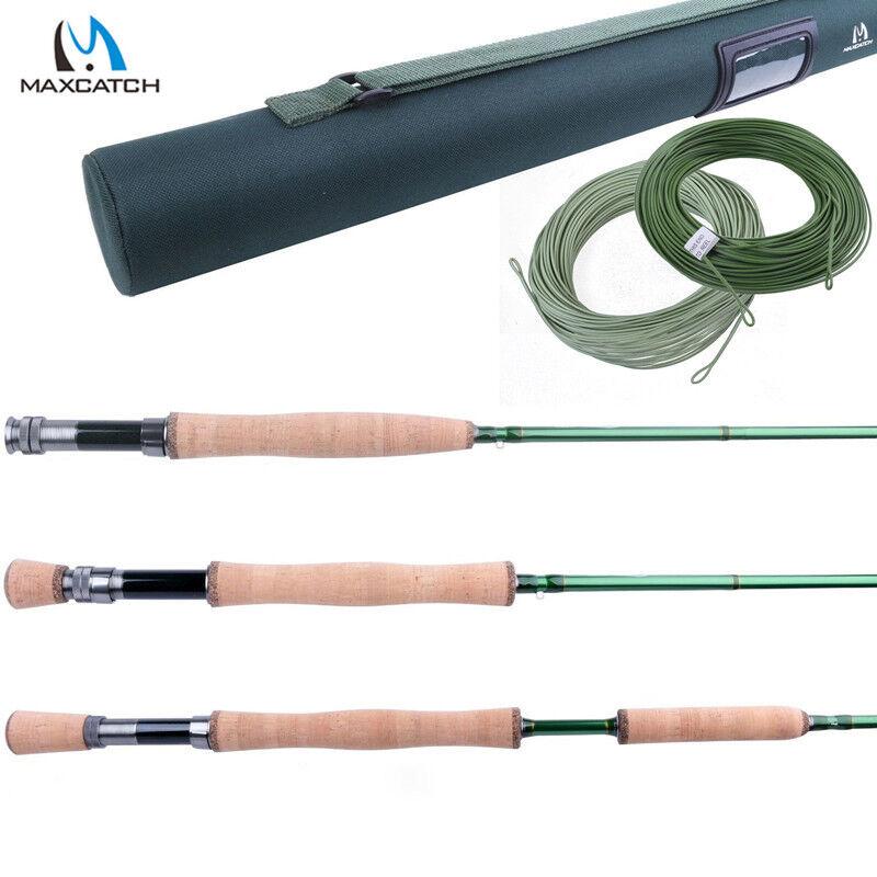 FLY Fishing Rod Azioni veloci 3 4 5 6 7 8 9 10 12WT FLY ROD (IM10) & WF Linea Di Volo