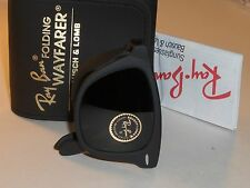 VINTAGE B&L RAY BAN USA W0670 MATTE BLACK G15 FOLDING WAYFARER SUNGLASSES NEW