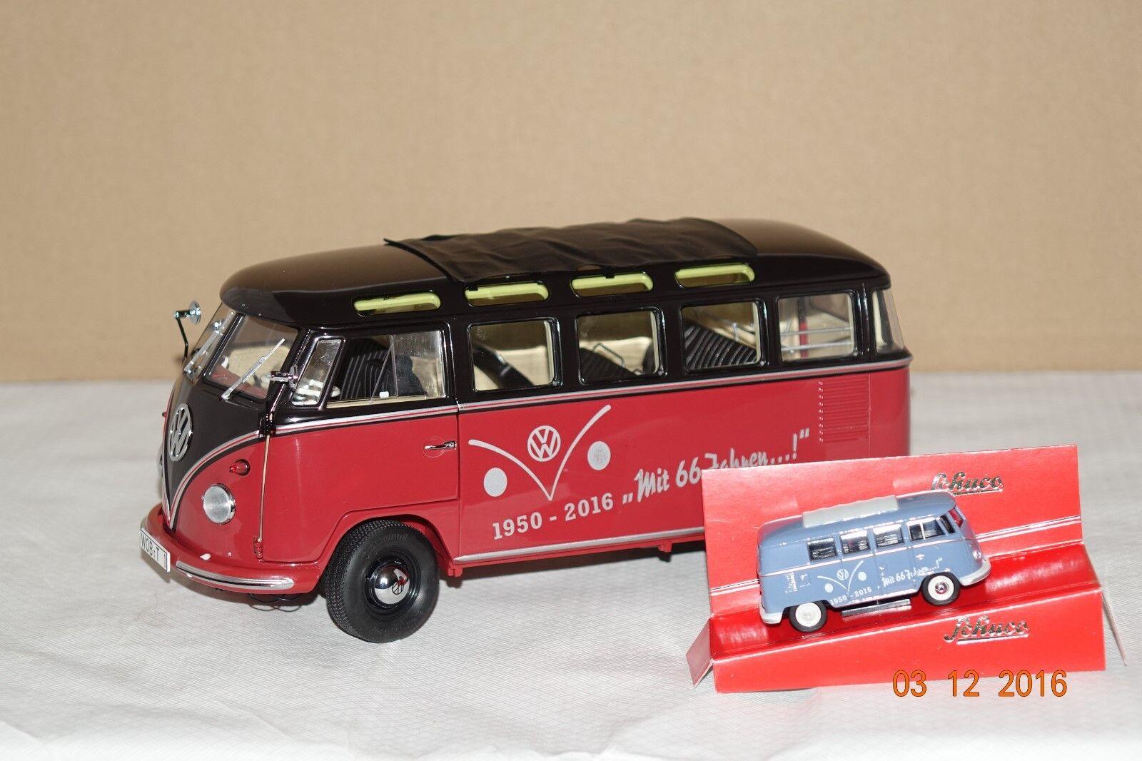 Giubileo pacchetto  66 anni VW t1 Bully  1:64 + 1:18 Schuco NUOVO & OVP 28401